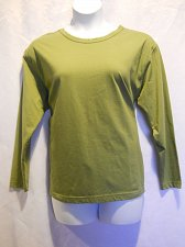 Buy Womens T-Shirt SIZE XL Scoop Neck RTW Long Sleeve Solid Olive 100% Cotton