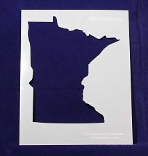 Buy State of Minnesota Stencil -14 mil Mylar Painting/Crafts