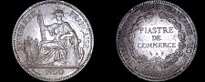 Buy 1900-A French Indo-China 1 Piastre World Silver Coin - Vietnam