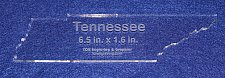 """Buy State of Tennessee 6.5"""" x 1.6"""" ~ 1/4"""" Quilt Template- Acrylic - Long Arm/ Sew"""
