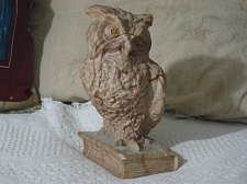 Buy AILIENA Marble Owl On Book Statue Figure One Bookend