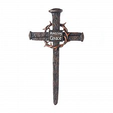 Buy *17551U - Crown Of Thorns Amazing Grace Nail Cross Plaque