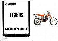 Buy 85-96 Yamaha TT350 Service Repair Workshop Manual CD --- TT350S TT 350 S