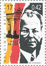 Buy Belgique 1999 Belgie 1v Stamp Willy Brandt Journey through the 20th century