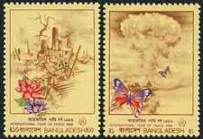 Buy Bangladesh MNH SET OF 2 STAMP Scott# 282-283 International Year of Peace
