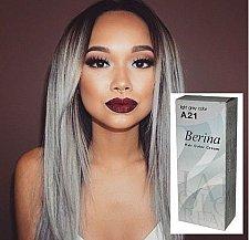 Buy Hair color gray light permanent dye Berina no A21 Cream Ash Silver Platinum New