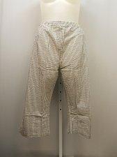 Buy PLUS SIZE 22W Women Capris Grey Striped Straight Leg Pockets Elastic Inseam 23
