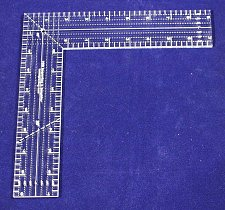 """Buy 9"""" L-Shaped Ruler. Acrylic ~1/4"""" thick. Quilting/Sewing/Template"""