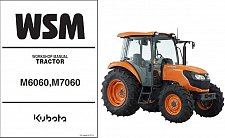 Buy Kubota M6060 M7060 Tractor WSM Service Workshop Manual CD
