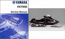 Buy Yamaha VX750S V-Max 4 Snowmobile Service Manual CD -- VMax VX 750 S