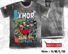 Buy Thor Gray Cotton T-Shirt Super Hero