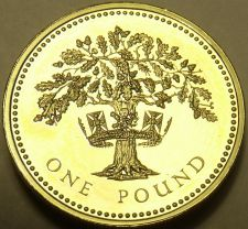 Buy Cameo Proof Great Britain 1992 Pound~An Ornament And a Safeguard~Free Shipping