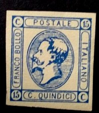 Buy Stamp Italy 1v used Quindici issues of 1863 printed by Matraire