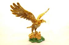 Buy Eagle with wings open enamelled and Diamante encrusted hinged trinket box
