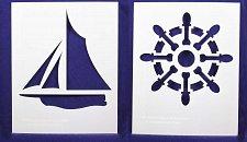 Buy Sailing Stencils- 2 Pc Set- 14 mil Mylar Painting/Crafts/Stencil