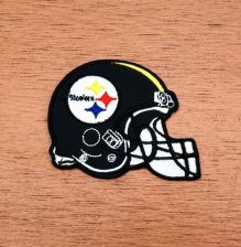 Buy NFL Pittsburgh Steelers Helmet Football Logo embroidered iron on patch new