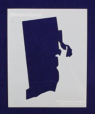 """Buy State of Rhode Island Stencil 8"""" x 10"""" -14 mil Mylar Painting/Crafts"""