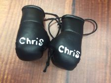Buy Pair Personalised Mini Boxing Gloves. Any Name Pink, Blue, White, Silver, Gold