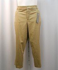 Buy Crop Pants Plus Size 24W JM COLLECTION Khaki Tummy Slimming Comfort Waistband