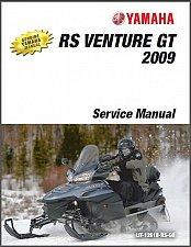 Buy 2005-2009 Yamaha RS Venrure GT (RS90K/RK/MK RSG90K RST90K/TFK) Service Manual CD