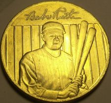 Buy 22k Gold Plated Babe Ruth World Series Lifetime Statistics Medallion~Free Ship