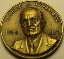Buy Huge 39.5mm Danbury Mint Harry S. Truman Solid Bronze Life History Medallion~F/S