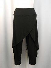 Buy Womens Dress Pants Plus Size 1X R&M Richards Black Popover Draped Formal Ankle