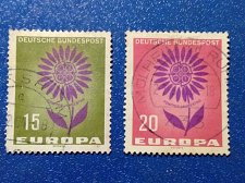 Buy Europa 1964 Germany Used stamps 2 v Thematic Flower