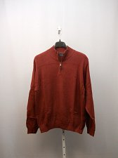 Buy Mens Sweater NAUTICA SIZE XL Solid Half-Zip Mock Neck Rib Waist Long Sleeves