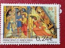 Buy Spain andora used 1v set 2001 Christmas Stamp
