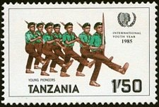Buy Tanzania 1v mnh Stamp 1986 MNH Young Pioneers International Youth Year