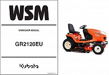Buy Kubota GR2120 (GR2120EU) Diesel Ride on Mower Tractor WSM Service Manual CD