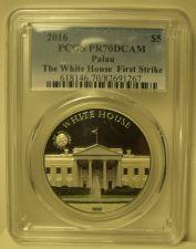 Buy Palau 2016 White House $5.00~FIRST STRIKE PCGS PR-70 DCAM~Free Shipping