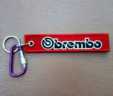 Buy Embroidered Fabric Strap Brembo Keychain Keyring Key Holder Tag Motorcycle