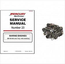 Buy 98-01 MerCruiser #23 GM V8 454 cid 7.4L / 502 cid 8.2L Service Repair Manual CD