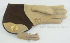 Buy Falconry Suede Double skinned glove fur lined...magnolia colour