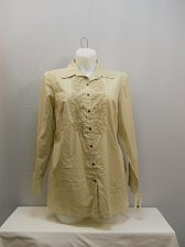 Buy Button Shirt Plus Size 14W CHARTER CLUB Sand Embroidery Long Sleeve Collar Neck