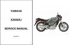 Buy 1982-1983 Yamaha XZ550 Vision 550 Service & Parts Manual on a CD