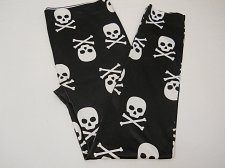 Buy SIZE XL Women Seamless Ankle Leggings Skulls Halloween GOTHIC Black Inseam 28