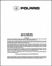 Buy 2015 Polaris RZR 900 EPS / XC / S 900 Service Manual on a CD