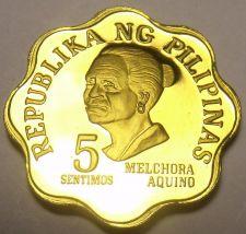 Buy Philippines 1978 5 Sentimos Proof~4,872 Minted~Scalloped~Melchora Aquino~Fr/Ship