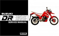 Buy 1988-1997 Suzuki DR 750 S / DR 800 S ( DR Big ) Service Manual on a CD