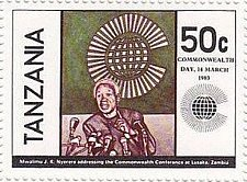Buy Tanzania 1v mnh Stamp British Commonwealth Day 1983 Michel 221 President M. J.
