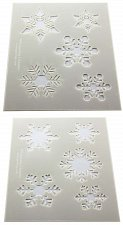Buy Snowflake Stencils- 2 Pc- 8 x 10- 14 mil Mylar Painting/Crafts/Stencil/Template