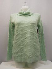 Buy Womens Tunic Sweater Size L FADED GLORY Turtle Neck Medium Popcorn Knit Green