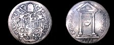 Buy 1775-I Italian States Papal States 1 Grosso World Silver Coin - Pius VI