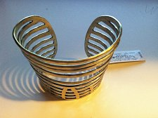Buy Lucky Brand Multi Tiered Openwork Gold Tone Wide Cuff Bracelet MSRP $59