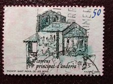 Buy Andorra Spanish 1989 1v used stamp Mi211 Churches - Cathedrals - Basilicas - C