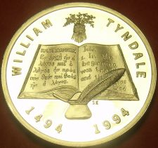 Buy South Africa William Tyndale Silver Proof Bible Study Medallion~SAM~Free Ship