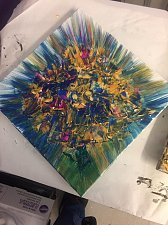 Buy Modern Contemporary Abstract Art on Canvas Flowers